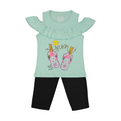 Seven Poon 1391516-53 T-Shirt And Short Set For Girls